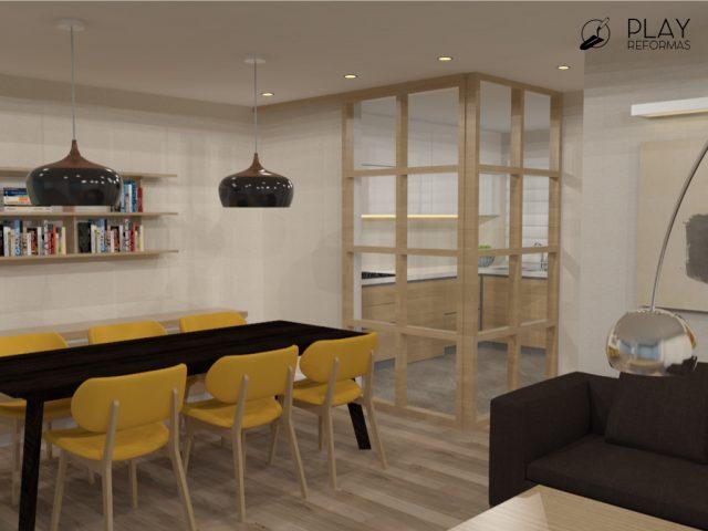 Nueva distribución y diseño integral de planta baja, para vivienda unifamiliar en Torrevieja