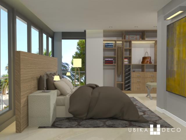 Proyecto de ampliación y diseño de mobiliario a medida para dormitorio y vestidor
